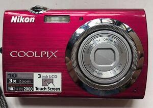 Nikon Coolpix S230 digital camera + Charger & Battery + Case