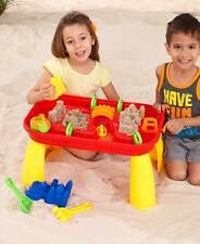 SAND AND WATER TABLE PLAYSET ~ TABLE + 12 PCS ~ GREAT SUMMER FUN ~ AGES 3+ ~ NIB