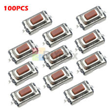 100Pcs DC 12V SMD Tactile PushButton Key Switch Momentary Tact 2 Pins 3x6x2.5mm