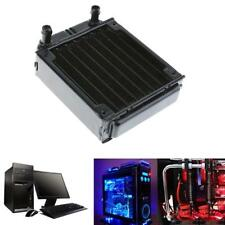 Aluminum 80mm Water Cooling Row Heat Exchanger Radiator For CPU-PC-Black