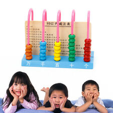 Kids Wooden Abacus Colorful Beads Counting Maths Maths Learning Educational Toy