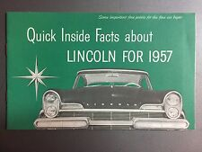 1957 Lincoln Full Line Showroom Advertising Sales Brochure RARE!! Awesome L@@K