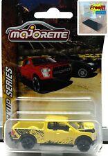 Majorette Ford F150 Raptor Yellow 1:72 201C Pick Up truck Free Display Box