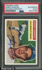 Sandy Koufax Signed 1955 Topps RC Retro AUTO HOF Dodgers PSA/DNA Authentic