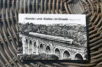 DDR AK Ansichtskartenmappe Karola und Karlex im Einsatz Baureihe 175  Echt Foto