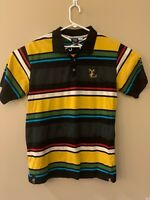 Mens LRG Equipment for Life's Journey striped Polo Rugby Shirt Medium