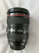 Canon EF 24-105mm F/4 L IS USM Lens - excellent optics and condition