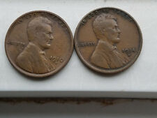 1910-S & 1914 S Lincoln Wheat Cents Penny San Francisco From Dad's Collection