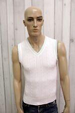 BURBERRY Maglione Uomo Taglia M Cotone Smanicato Casual Pull Pullover Sweater