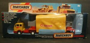 Matchbox Superkings Shell Garage Transporter K-113 NIB 1985 Made In England