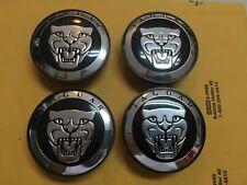 Set of 4 BLACK Wheel Center Caps 59mm Rim Emblem Hubcap Cover fit for Jaguar Jag