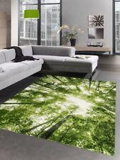 Tapis de design tapis de salon motif de la forêt et arbres en vert