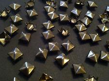 CraftbuddyUS 100*5mm x GUNMETAL Pyramid, Punk,Rock,Leather Bag Shoe Studs CRAFT