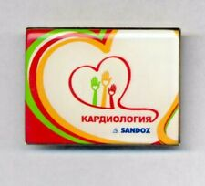 New listing Sandoz Cardiology Pharmacy badge - pin 3/ 4 sm Lsd Albert Hofmann
