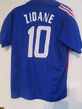 Francia Zidane 10 2002-2004 Hogar Camiseta De Fútbol Talla Grande/41028
