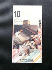 TIMBRES DU CANADA : 1993 CARNET DE 10 TIMBRES ETOFFES ARTISANALES  ** TBE