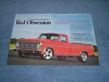 "1967 Ford F-100 Ranger Resto-Rod Article ""Red Obsession"" LWB Fleetside"