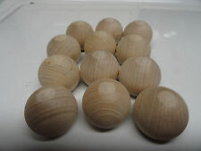 """12 -1 1/4""""Wooden Balls/Paint/Unfinished/Craft Supplies/Wood  doll and bear heads"""
