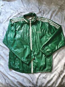 Mens Vintage Green Adidas Originals Winbreaker UK Size Medium