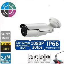 Hd-Cvi 1080p 2.0Mp Motorized Zoom Auto Focus 2.8-12mm Bullet Camera Sony Cmos