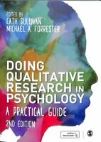 Doing Qualitative Research in Psychology A Practical Guide 9781526402783