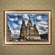 DIY 5D Diamond Embroidery Building Painting Cross Stitch Crafts Home Decor