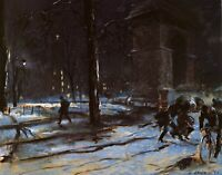 Washington Square NYC by Everett Shinn. Life Art Repro Choose Canvas or Paper