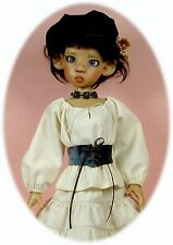 BJD MSD Pattern for Kaye Wiggs' MSD; peasant blouse, skirt, vest, sweater & more