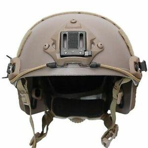 FMA BalIistic Style Tactical FAST OPS Helmet - TAN DE (TB326 L/XL Size)