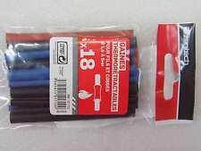 18 gaines thermorétractables pour fil / cosse -diamètre 1.6 à 5mm -longueur 90mm