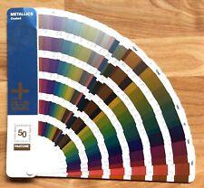 Pantone Metallics Coated Plus Series Color Guide Fandeck Paint Chips