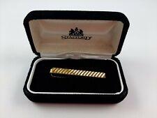 Vintage STAFFORD Gold Tone Tie Clip Clasp
