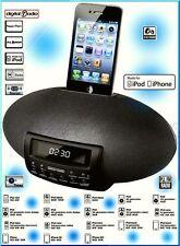 Q.MEDIA QIP5 Eier Radiowecker iPhone 4 4S iPod iDOCK system PLL Tuner 50W Schwar