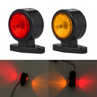 2x LED Red Amber Side Marker Lights Outline Lamp Car Truck Trailer Van 12V-24V