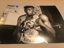 New listing Pat Barrett Signed Photo. The Black Flash'. Boxing Memorabilia Autograph
