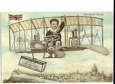 Advertising Postcard - Public Benefit Boot Co, Union St, Plymouth.  Biplane.