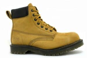 Solovair Made in England 7 Eye Wheat Padded Collar Steel Boot Ben Steelcap S114