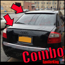 COMBO Rear Roof Wing & Trunk Lip Spoiler (Fits: Audi A4 2002-05 B6 4dr sedan)