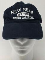 New Bern North Carolina Est 1710 Baseball Hat Cap OSFM Strap Back Blue White