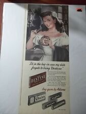 1948 VINTAGE AD FOR DENTYNE BY ADAMS CHEWING GUM 6X13 CLOVE BLACK JACK CHICLETS