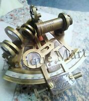 BRASS MARINE SEXTANT ASTROLABE ANTIQUE MARITIME NAUTICAL SHIP SEXTANT GIFT