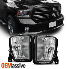Fits 13 14 15 16 17 18 Dodge Ram 1500 Pickup Clear Fog Lights Replacement Pair