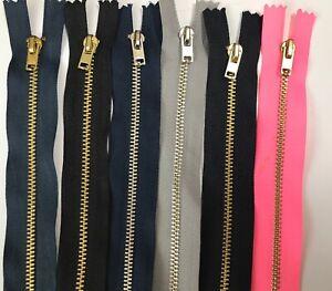 20 SIZESDenim Zip Metal Closed End Jeans Zipper , Skirt Zip, Metal Zip Shortzip