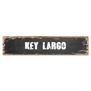 SP0349 KEY LARGO Street Sign Bar Store Cafe Home Kitchen Chic Decor Gift