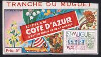 TICKET  ANNÉE 1974   LOTERIE NATIONALE   sur le thème du muguet et cote d'azur