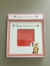 Premier Baby's 1st Christmas Ceramic Photo Frame Square Hand Painted New