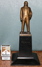 RARE ORIGINAL Russian Soviet LENIN metal bust statue figurine USSR 1950s