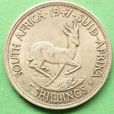 1947 South Africa Silver Five Shillings SNo32832