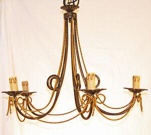 Lampadario a sospensione vintage con 5 luci per camera da letto lampada ART.30
