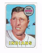 1969 TOPPS BASEBALL CARD # 201 RUSS SNYDER INDIANS OUTFIELDER
